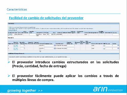 Colaboración con los Proveedores mediante iSupplier Portal, de Oracle
