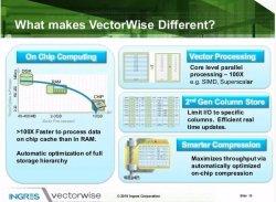 Ingres VertorWise, BBDD específica para alto rendimiento en Business Intelligence. Introducción y demo.