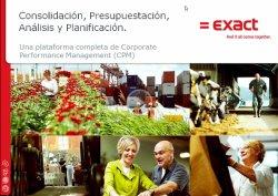Consolidación, presupuestación, análisis y planificación con la suite CPM de Exact