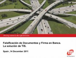 Falsificación de documentos y firma en banca con la solución de Top Image Systems.
