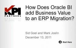 Análisis del valor de activos fijos con Oracle BI. Webinar en inglés por la consultora USA kpipartners.com