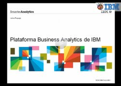 Introducción a la plataforma de Business Analytics de IBM