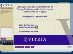 Inteligencia Operacional para la visibilidad en tiempo real de las operaciones de negocio. Según Vitria