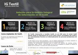 Presentación de IG Textil, un ERP desarrollado específicamente para la industria textil por CITTA