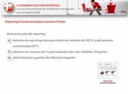 Presentación de la nueva herramienta JD Edwards One View Reporting para análisis de datos, por Oraclemascerca.com