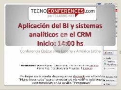 BI y sistemas analíticos aplicados al CRM, con casos prácticos reales. Conferencia online de 6 horas (con capítulos).