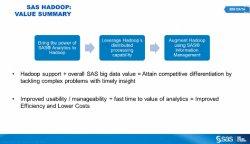 Business Analytics sobre Hadoop, por SAS