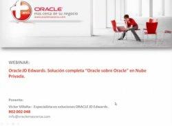 Oracle JD Edwards, solución completa en Nube Privada. Webinar de 45 min de Oraclemascerca.com.