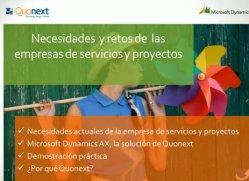 Gestión óptima de la empresa de servicios y proyectos con Microsoft Dynamics AX. Por Quonext.