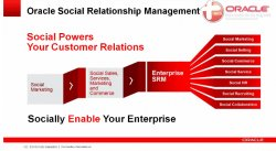 Oracle Social SRM: Social Marketing, Engagement & Monitoring, Data y Networking