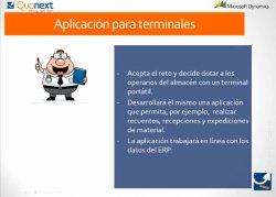 Quomobile: Gestión de tareas y procesos de los departamentos de almacén y producción desde terminales móviles para Microsoft Dynamics AX