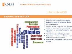 Social CRM: La Estrategia CRM adaptada al nuevo entorno digital. Por Adesis.