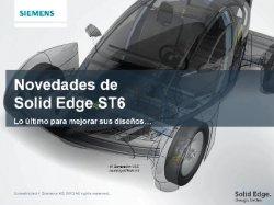 Webinar Siemens PLM Software: conozca las novedades de Solid Edge ST6