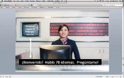 Demostración de Traducción/ interpretación automatizada en tiempo real para 78 idiomas, con translateyourworld.com