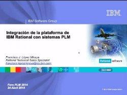 Integración de IBM Rational con el PLM