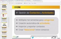 Intro y demo a CiviCRM, CRM SaaS para el 3er Sector