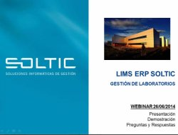 LIMS ERP Soltic: Software de Gestión de Laboratorios. Intro y demo.