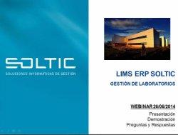 LIMS ERP Soltic: Software de Gestión de Laboratorios. Intro y demo.