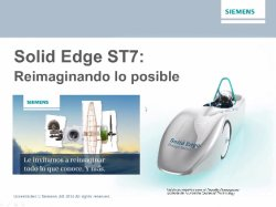 Introducción y demo a Solid Edge ST7