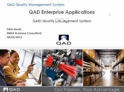 Process manufacturing con QAD