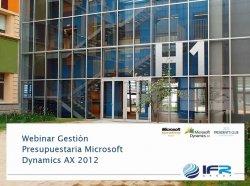 Presupuestos con Microsoft Dynamics AX Financial Management