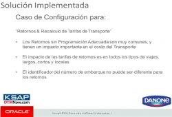 Order to Cash en Aguas Danone Argentina con Oracle OTM y Financials. Caso Práctico.
