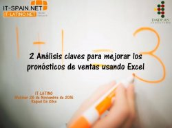 2 Análisis claves para mejorar los pronósticos de ventas usando Excel