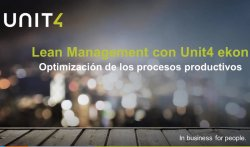 Lean Management con Unit4 Ekon - Optimización de procesos productivos.
