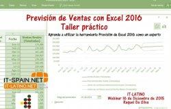 Previsión de ventas con Excel 2016. Taller práctico.