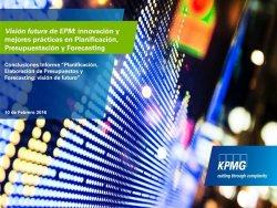 Software Planificación y Prevision Financiera. Nuevas tendencias. Por KPMG