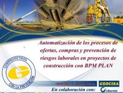 Automatización de los procesos de ofertas, compras y prevención de riesgos laborales en proyectos de construcción con BPM PLAN