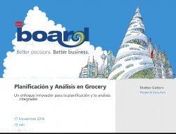 Planificación y análisis en Grocery