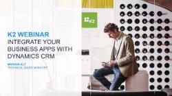 Apps para Dynamics CRM integradas con SAP, Oracle u otras. Con K2. Sin programación.
