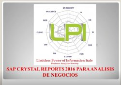 SAP Crystal Reports 2016 para analítica de negocio. Por Pedro Chávez.