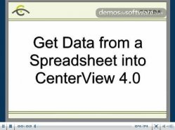 Cómo obtener datos de Spreadsheet dentro de CenterView 4.0