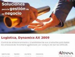 Logistic Management de Aitana. Solución de gestión de logística en Dynamics AX 2009
