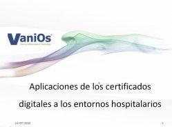 Certificados digitales en hospitales, por VaniOs