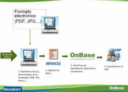 Procesamiento de facturas de proveedor con Readsoft y Onbase. Webinar de 1 hora.