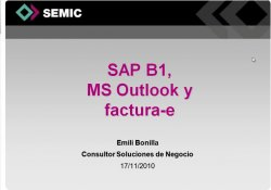 Add-On Factura Eléctronica para SAP Business One 8.8. Por SAP B1 Hub