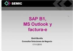 Add-On Factura Eléctronica para SAP Business One 8.8. Por SAP B1 Hub