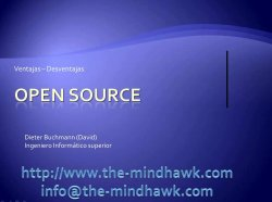 Open Source sí, open Source no. Los webinars de Dieter Buchmann.
