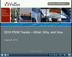 Physical Security Information Management. ¿Qué se está moviendo? Webinar de Vidsys