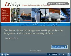 Integración de la gestión de identidades y PSIM para Seguridad. Webinar VidSys.