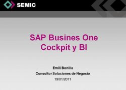 SAP Business One 8.8 : Interfaz y creación de widgets en el Cockpit