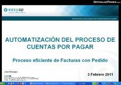 Automatización y externalización del proceso de facturas con pedido. Webinar de 1 hora por Easyap