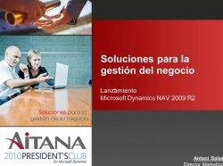 Dynamics NAV 2009 R2: Introducción y demo por Aitana